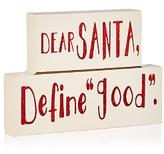 Bloomingdale's Dear Santa Mantle Decoration - 100% Exclusive