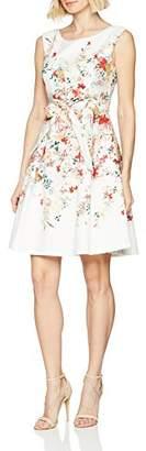 Comma Women's 8T.804.82.4495 Party Dress, Multicolour Flower Placement 01E7