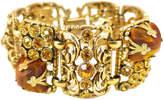 One Kings Lane Vintage Chunky Tigers Eye & Amber Bracelet