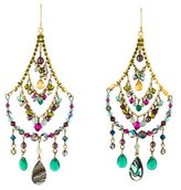Erickson Beamon Faux Pearl, Abalone & Crystal Chandelier Earrings