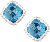 Judith Ripka Cushion-Cut Indigo Spinel Button Earrings