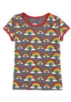 Mighty Fine Toddler Girl's Rainbow Ringer Tee