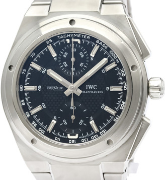IWC Black Stainless Steel Ingenieur Chronograph Automatic IW372501 Men's Wristwatch 42 MM