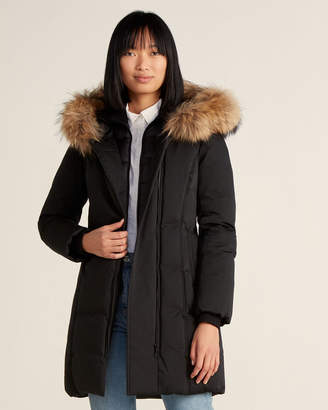 Soia & Kyo Removable Real Fur Hood Down Jacket