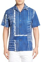 Tommy Bahama Men's Big & Tall 'Patch And Release' Regular Fit Silk & Cotton Camp Shirt