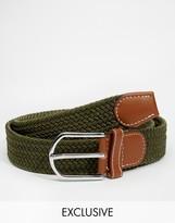Reclaimed Vintage Woven Belt - Green