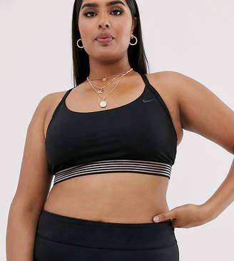 Nike Curve cross back crop bikini top in black