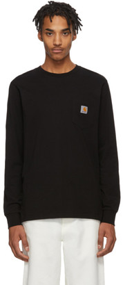 Carhartt Work In Progress Black Pocket Long Sleeve T-Shirt