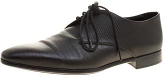 Giorgio Armani Black Textured Leather Lace Up Oxfords Size 41