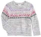 Design History Embellished Knit Sweater (Toddler Girls & Little Girls)