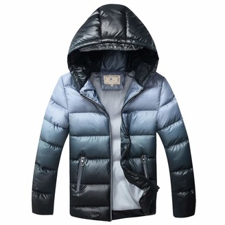 LPATTERN Kids Big Boys Winter Puffer Coat Warm Padded Jacket Hooded School Parka Thickened Cotton Coat Casual Quilted Coat