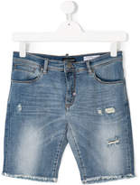 Antony Morato distressed denim shorts