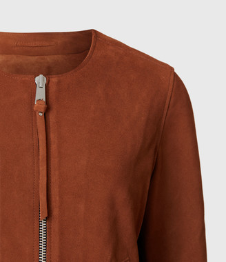AllSaints Aster Suede Jacket