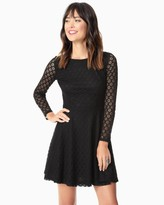 Charming charlie Geo Lace Fit and Flare Dress