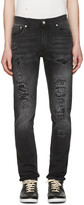 Alexander McQueen Black Distressed Jeans