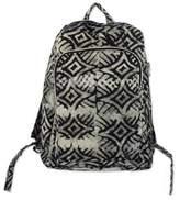 Black and White Batik Cotton Backpack with Shoulder Straps, 'Abanga'