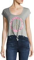 Chaser Peace Blossom Tie-Front Tee