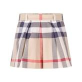 Burberry BurberryGirls Beige Classic Check Cotton Skirt