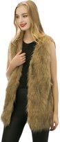 Spintu Womens Faux Fur Outerwear Long Waistcoat