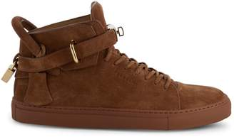 Buscemi Logo Suede High-Top Sneakers