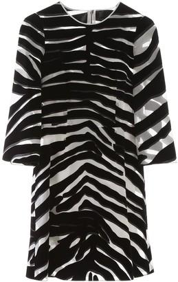 Dolce & Gabbana Zebra Print Sheer Mini Dress