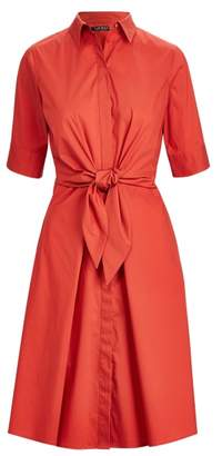 Ralph Lauren Buttoned Fit-and-Flare Dress