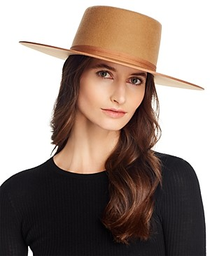 LACK OF COLOR Teak Wool Rancher Boater Hat