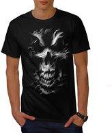 Silver Skeleton Ghost Gothic Skul Men XXXL T-shirt   Wellcoda