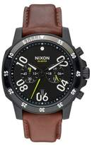 Nixon 'The Ranger' Chronograph Leather Strap Watch, 44mm