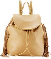 Sam Edelman Fifi Leather Fringe Backpack, Camel