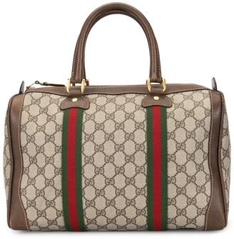 Gucci Pre Owned GG Shelly Line Boston hand bag