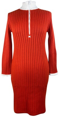 Courreges Red Wool Dresses