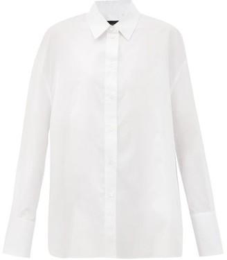 Joseph Dropped-hem Cotton-poplin Shirt - White