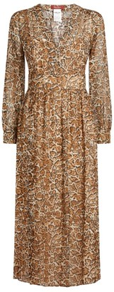 Max Mara Geneve Leopard Silk Dress