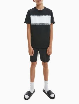 Calvin Klein Repeating Logo Color Block T-Shirt