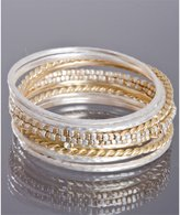 set of 10- silver and gold bangles