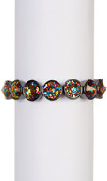 Betsey Johnson Round Glitter Beaded Stretch Bracelet