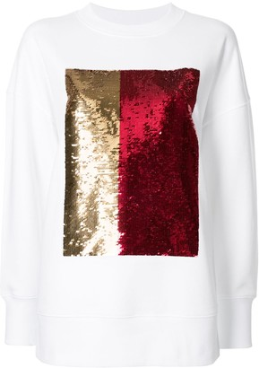CK Calvin Klein Long Sleeve Sequin Embellished Top