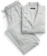 Ralph Lauren Petite Striped Jersey Pajama Set