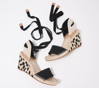 Vince Camuto Ankle Wrap Wedges - Levernta