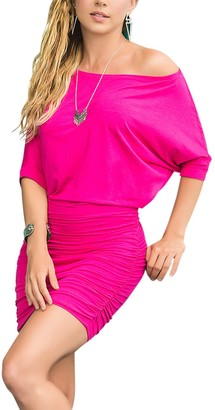 Mapalé By Espiral Mapale by Espiral Women's Mapale by Espiral Off The Shoulder Short Sleeve Sexy Mini Dress