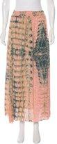 Dagmar Alligator Print Midi Skirt