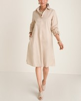 Chico's Chicos Tie-Sleeve Shirt Dress