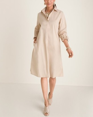 Chico's Tie-Sleeve Shirt Dress