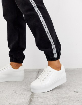 ASOS DESIGN Dramatic chunky lace up trainers in white