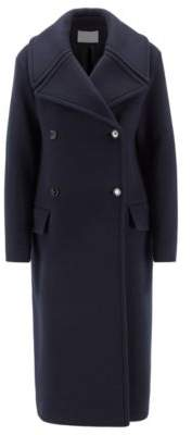 BOSS Relaxed-fit coat in virgin wool and cashmere