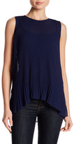 Laundry by Shelli Segal Solid Chiffon Blouse