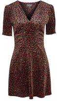 Topshop Bizzy lizzy velvet tea dress