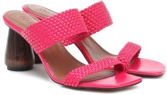 Souliers Martinez Exclusive to Mytheresa Limon 80 leather sandals