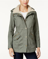Style&Co. Style & Co. Sherpa-Collar Anorak Jacket, Only at Macy's